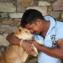 staff-member-kishore-with-blind-shelter-dog-bella