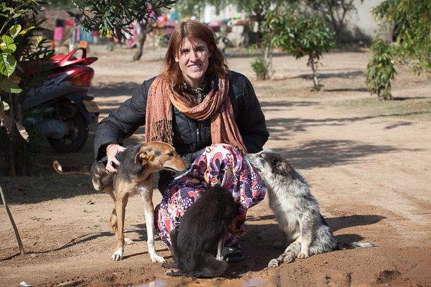 Rachel Wright, the founder and director of the Tree of Life for Animals rescue center in Pushkar, India